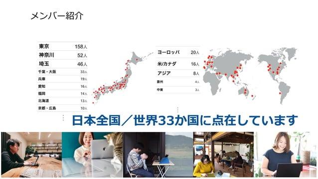日本全国/世界33か国に点在しています メンバー紹介