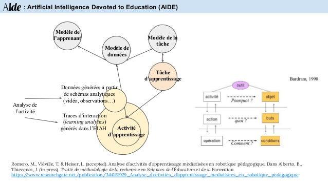 Aide : Artificial Intelligence Devoted to Education (AIDE) Réalisation des tâches dans un contexte ludique et immersif de ...