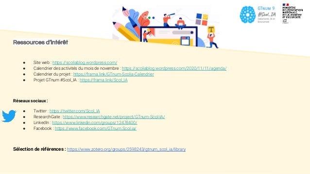 Ressources d'intérêt ● Site web : https://scoliablog.wordpress.com/ ● Calendrier des activités du mois de novembre : https...
