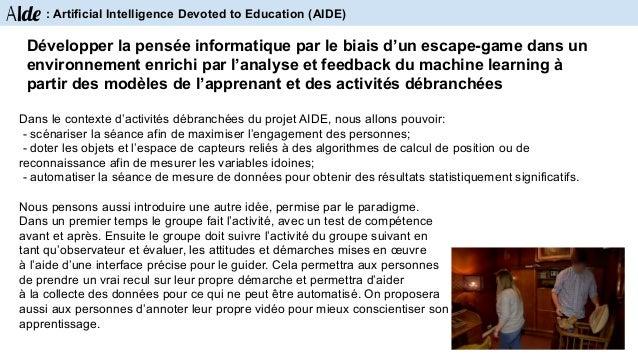 Contexte de travail : le projet AIDE est un projet interdisciplinaire. D'une part, le laboratoire unice.fr/laboratoires/li...