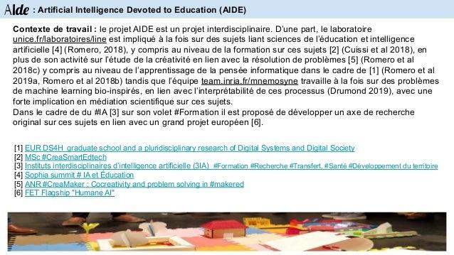 Références CreaCube, a playful activity with modular robotics (2018c) M. Romero, D. David, B.Lille. Le jeu du robot : anal...
