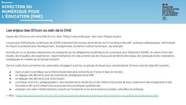 Enjeux du numérique éducatif dans l'Académie de Nice suite aux EGNT et EGNE Louis Giraud, David Ragot, Eric Beguin DRANE. ...