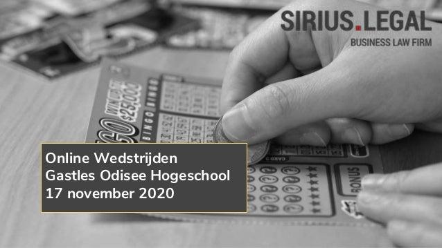 Online Wedstrijden Gastles Odisee Hogeschool 17 november 2020