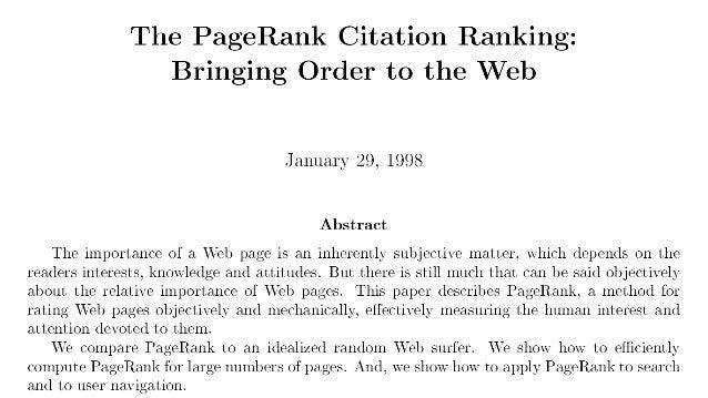 20201121 昔の論文を読む会 The PageRank Citation Ranking Slide 2