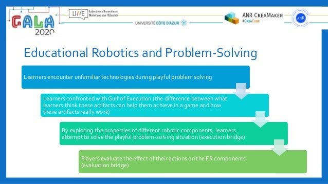 Educational Robotics and Problem-Solving Learners encounter unfamiliar technologies during playful problem solving Learner...