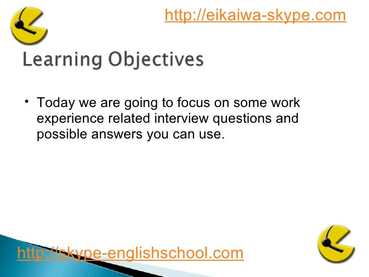 Business English interview questions 3 Slide 2