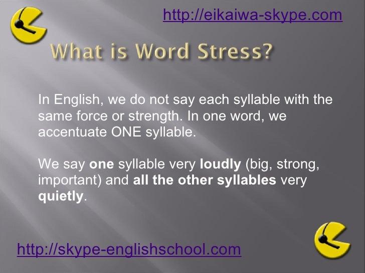 Learning English Pronunciation word stress2 Slide 3