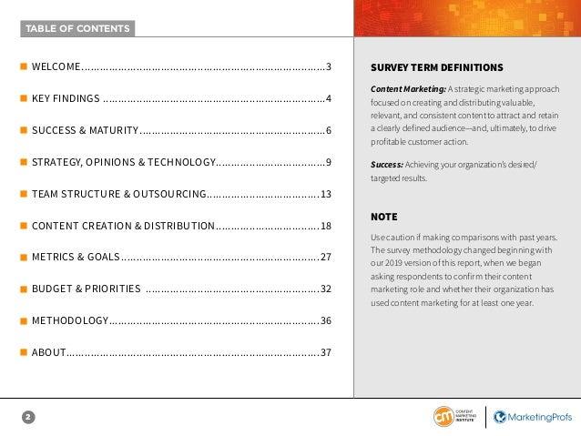 2020 B2C Content Marketing Benchmarks, Budgets & Trends Slide 2