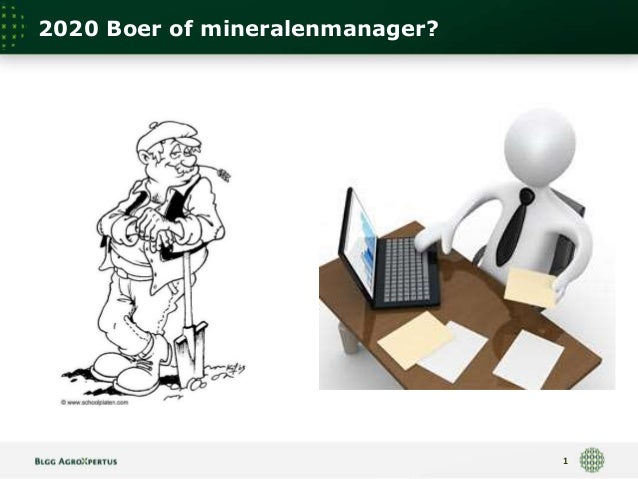2020 Boer of mineralenmanager?  1