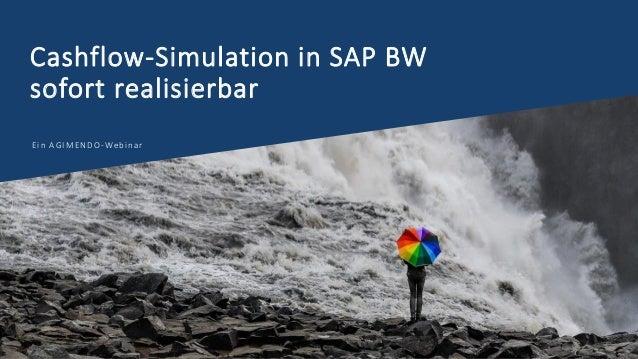 Cashflow-Simulation in SAP BW sofort realisierbar Ein AGIMENDO-Webinar