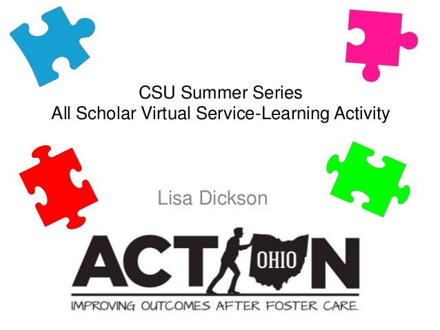 CSU Summer Series All Scholar Virtual Service-Learning Activity Lisa Dickson