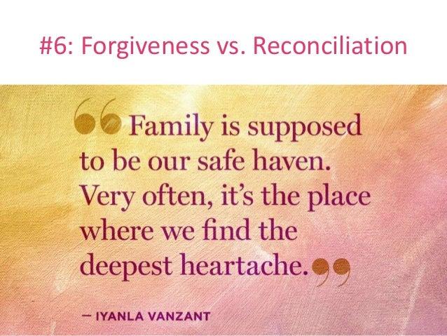 #6: Forgiveness vs. Reconciliation