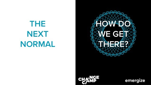 Virtuelles Change Camp28/05/201 HOW DO WE GET THERE? THE NEXT NORMAL