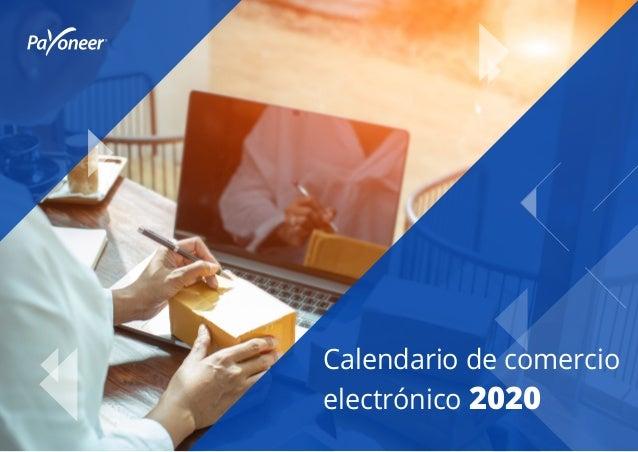 Calendario de comercio electrónico 2020