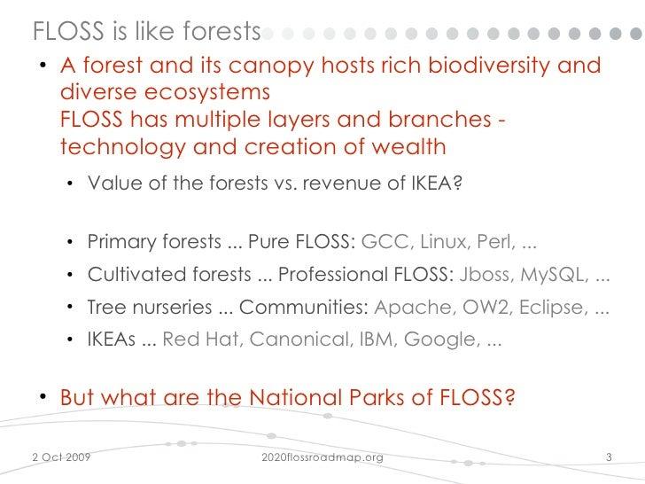 2020 Floss Roadmap at Open World Forum 2009 Slide 3