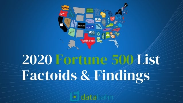 2020 Fortune 500 List Factoids & Findings