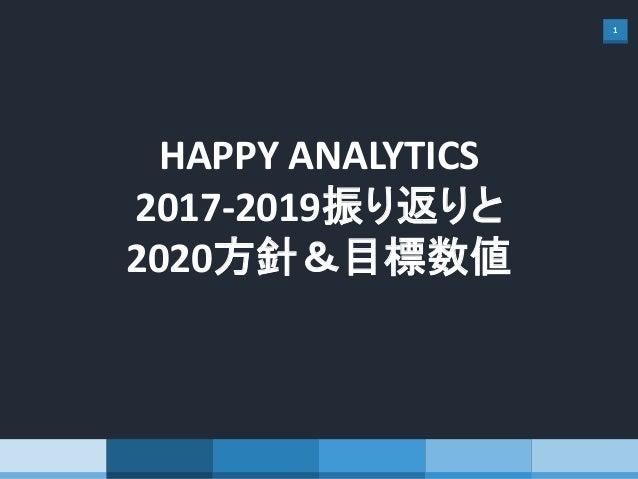 1 HAPPY ANALYTICS 2017-2019振り返りと 2020方針&目標数値