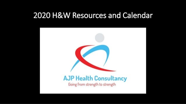 2020 H&W Resources and Calendar