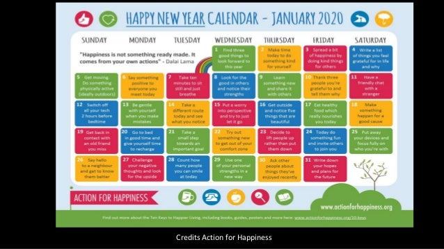 2020 Health and Wellbeing resources and calendar Slide 2
