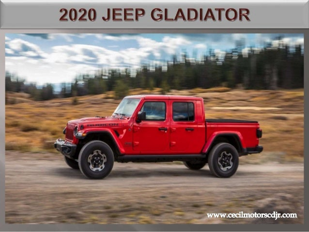 Best Pickup Truck 2020.New 2020 Jeep Gladiator Pickup Truck With 4x4 Capability