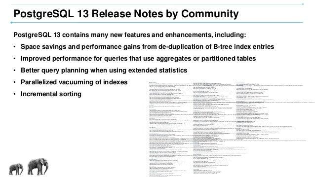 [PGDay.Seoul 2020] PostgreSQL 13 New Features Slide 3