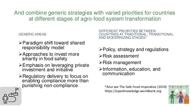 And combine generic strategies with varied priorities for countries at different stages of agro-food system transformation...