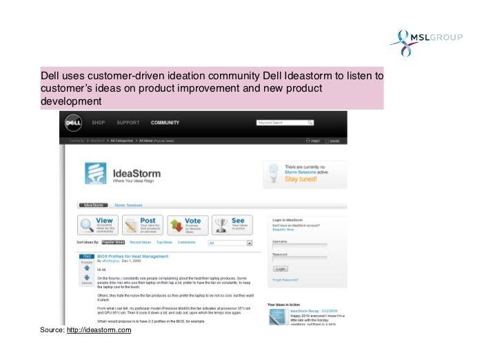 Dell idea storm - SlideShare