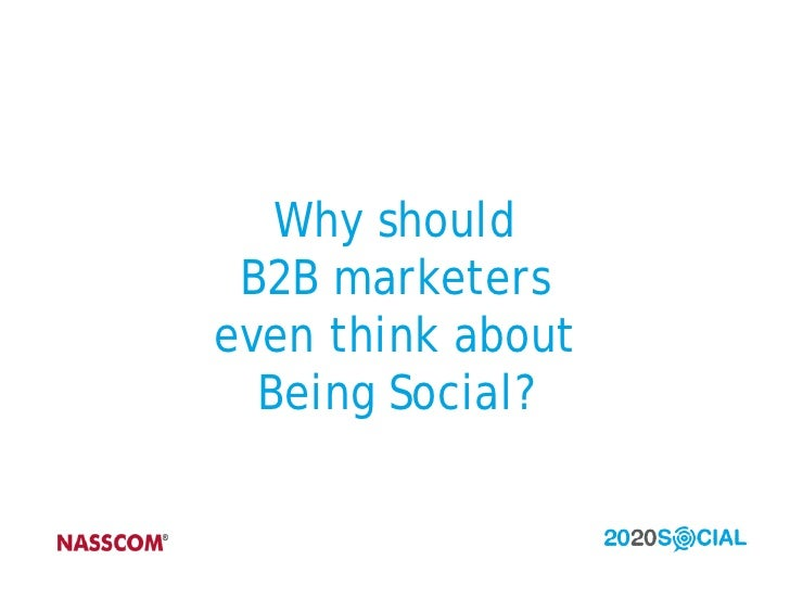 2020 Social Workshop on Social Media For B2B Marketers Slide 2