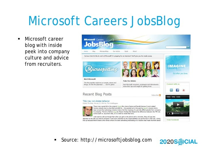 Microsoft Careers JobsBlog  Microsoft career   blog with inside   peek into company   culture and advice   from recruiter...
