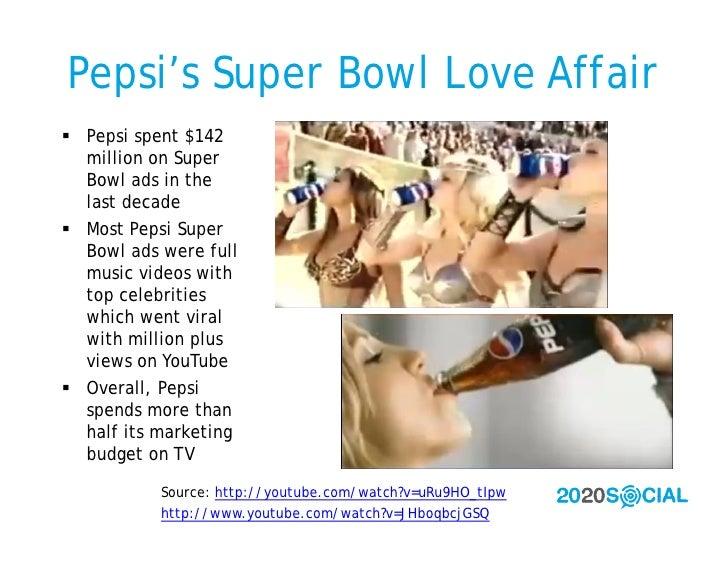 Pepsi's Super Bowl Love Affair  Pepsi spent $142   million on Super   Bowl ads in the   last decade  Most Pepsi Super   ...
