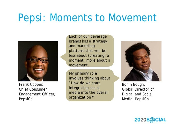 Pepsi: Moments to Movement                       Each of our beverage                       brands has a strategy         ...
