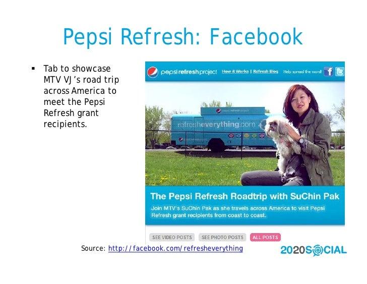 Pepsi Refresh: Facebook  Tab to showcase   MTV VJ's road trip   across America to   meet the Pepsi   Refresh grant   reci...