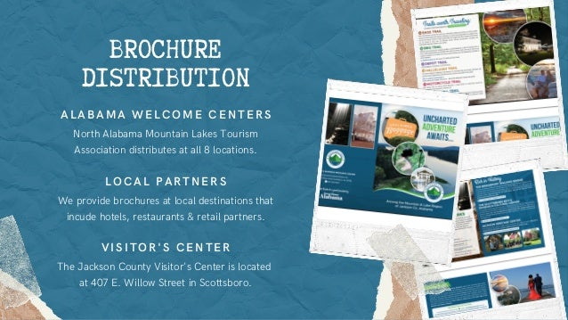 We provide brochures at local destinations that incude hotels, restaurants & retail partners. LOCAL PARTNERS North Alabama...