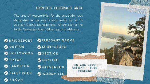 SERVICE COVERAGE AREA The area of responsibility for the association was designated as the sole tourism entity for all 13 ...