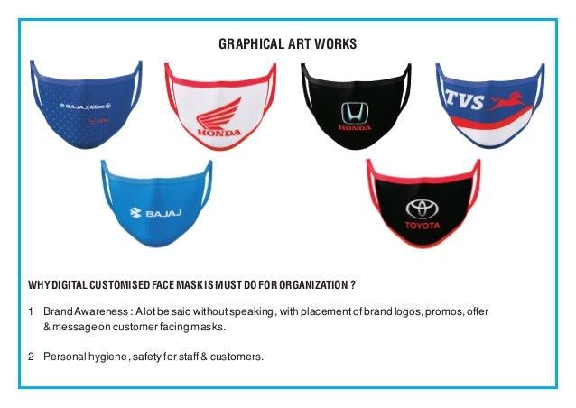 Face Mask - Custom Sublimation Logo Printed Wholesale Slide 2