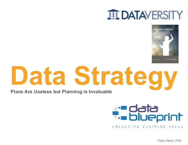 Data Strategy Copyright 2020 by Data Blueprint Slide # 1Peter Aiken, PhD Plans Are Useless but Planning is Invaluable