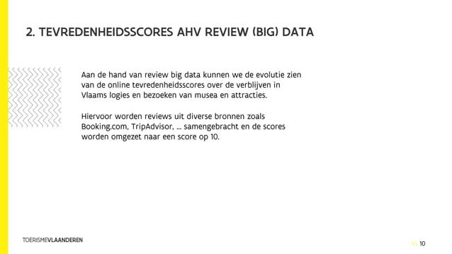 10 2. TEVREDENHEIDSSCORES AHV REVIEW (BIG) DATA Aan de hand van review big data kunnen we de evolutie zien van de online t...