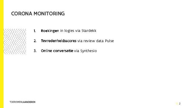 2 CORONA MONITORING in logies via Stardekk via review data Pulse via Synthesio