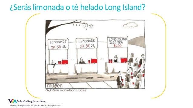 © 2021 ValueSelling Associates, Inc. | Creator of the ValueSelling Framework® ¿Serás limonada o té helado Long Island?