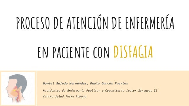 PROCESO DE ATENCIÓN DE ENFERMERÍA en paciente con DISFAGIA Residentes de Enfermería Familiar y Comunitaria Sector Zaragoza...