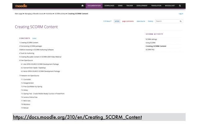 https://docs.moodle.org/310/en/Creating_SCORM_Content