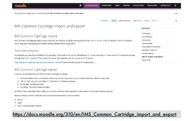 https://docs.moodle.org/310/en/IMS_Common_Cartridge_import_and_export