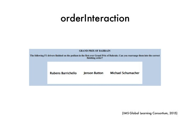 orderInteraction (IMS Global Learning Consortium, 2015)
