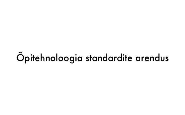 Õpitehnoloogia standardite arendus