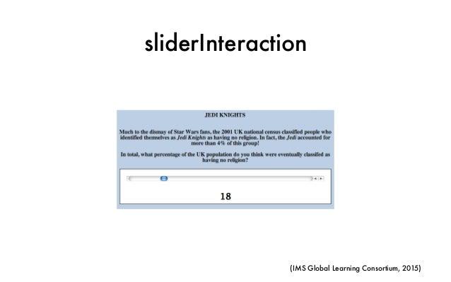 sliderInteraction (IMS Global Learning Consortium, 2015)