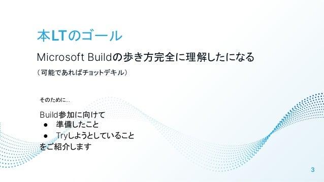 Microsoft Build 2021 前夜祭LT Slide 3
