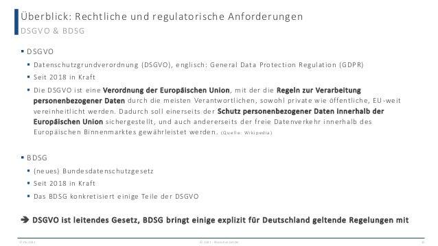 Überblick: Rechtliche und regulatorische Anforderungen 17.06.2021 © 2021 - IBsolution GmbH 15 DSGVO & BDSG  DSGVO  Daten...