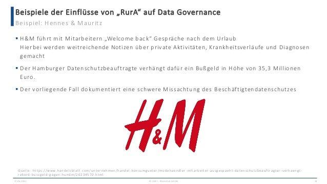 """Beispiele der Einflüsse von """"RurA"""" auf Data Governance 17.06.2021 © 2021 - IBsolution GmbH 24 Beispiel: Hennes & Mauritz ..."""