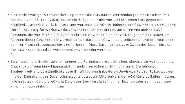 17.06.2021 © 2021 - IBsolution GmbH 8 Quel l e: https: / / w w w . c o m -m a g az i n . d e/ p r ax i s / d s gv o / 1 - ...
