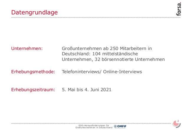 ESG-Herausforderungen für Großunternehmen in Deutschland Slide 2